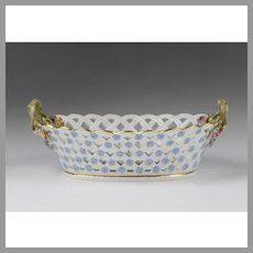 Meissen Reticulated Porcelain Bowl