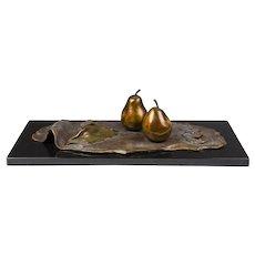 Darlis Lamb Table Bronze, Pears, Numbered 2/30