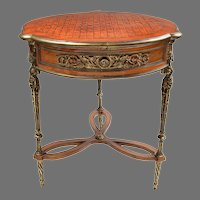 French Regence Reisner Style Gueridon With Parquetry Top