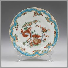 Worcester Dr. Wall Period, Jabberwocky Pattern Saucer, 1770