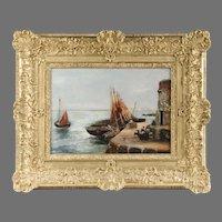 Coastal Seascape Oil on Canvas by Francis E. Jamieson