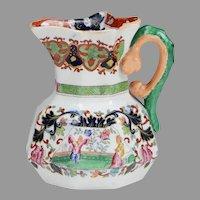 "Circa 1845 Staffordshire Ridgway & Morley 4"" Hydra Jug"