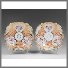 Pair of English John and William Yates Plates