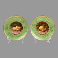 Pair of Hand Painted Coalport Cabinet Plates