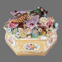 Jacob Petit Floral Encrusted Octagonal Bee Box