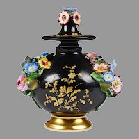 Jacob Petit 1850 Perfume Bottle, Encrusted Flowers