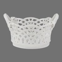KPM Porcelain Blanc de Chine Perforated Basket