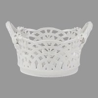 KPM Porcelain Blanc de Chine Perforated Basket