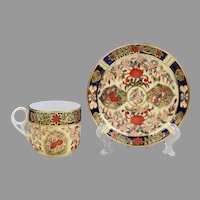 Royal Crown Derby Tea Cup & Saucer, Imari Pattern
