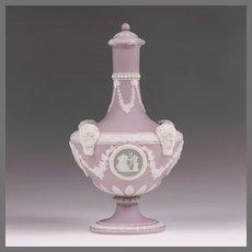 19th C. Wedgwood Lavender Tri-Color Barber Bottle