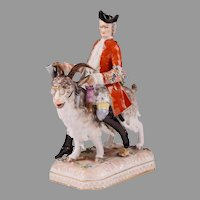 Carl Thieme Porcelain Bruhl's Tailor on Goat