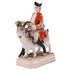 Carl Thieme Porcelain Bruhl's Tailor on Goat