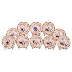 1893 Set of 10 Royal Crown Derby Plates, 3413