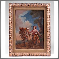 18th C. Italian Painting Of Theatre Actors