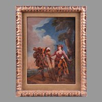 18th C. Italian Painting Of Theatre Actors