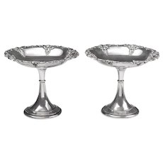 Pair of Grande Baroque Sterling Hollowware Compotes