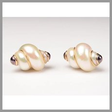 Turbo Shell Maz Classic 14 Karat Earrings
