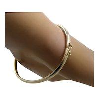 10K Yellow Gold Bangle Flex Bracelet 5.9 Grams Sz 6 7/8