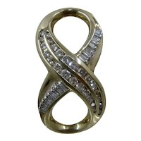 14K 1.0 TCW Diamonds Infinity Slider Pendant Figure 8