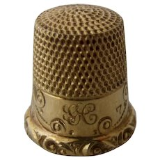 Early 1900s 14K Gold Thimble Ketcham & MacDougall Sz 7