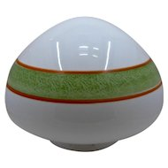 Deco Painted Stripes Ceiling Light Shade Globe Ca 1930