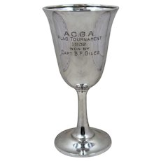1932 Sterling Trophy Goblet A.C.G.A. Flag Tournament