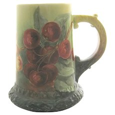 American Belleek CAC (Lenox) Mug Tankard Red Cherries
