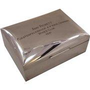 1951 Silver Presentation Box to Ann Picket Wives Club Germany Col. Pickett WWII