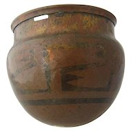Aztec Metal Arts & Crafts Hammered Copper Hanging Pot
