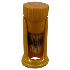 Catalin Butterscotch Bakelite Shaving Brush & Stand Ever-Ready