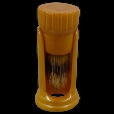 Catalin Butterscotch Bakelite Shaving Brush & Stand Ever-Ready