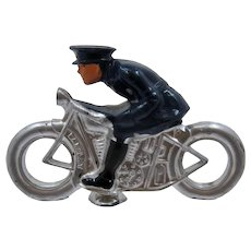 Barclay No. 310 Cop or Military Officer on Motorcycle Lead Figure WWII