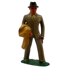 1940s Barclay Lead Figure Man in Gray Suit