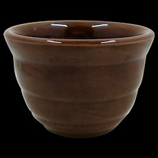 1940s Bauer Brown Custard Cup Gloss Pastel Line