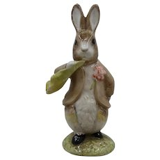 Beatrix Potter Royal Albert Benjamin Rabbit Ate a Lettuce Leaf