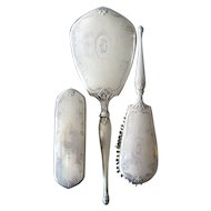 Birks of Canada Sterling Mirror and Brushes 3 Pc Dresser Set