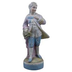 German Porcelain Bisque Full Figure 1700s Courtier