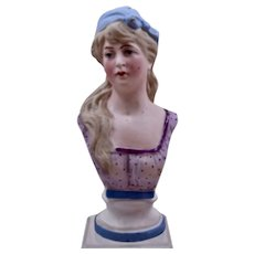 German Porcelain Bisque Bust Young Woman Ca 1900