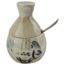 Red Wing Pottery Bob White Sugar Bowl or Jam Jar