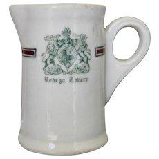 "1920s English Ironstone Individual Creamer ""Bodega Tabern"""