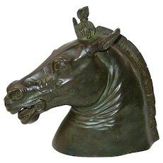 Bronze Model of the Medici Riccardi Horse Head Sculpture
