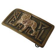 Brass TECHNICAL Bulldog Buckle Ca 1930 Robbins Co
