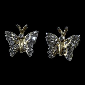14K/10K  Butterfly Diamond Wings Earrings ADL