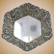 Art Nouveau Pierced Sterling Bon Bon Dish Campbell-Metcalf