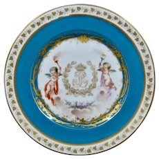 Chateau des Tuileries Plate Sevres Style Cabinet Plate HP Chip