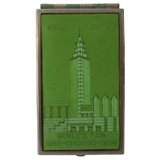 1933 Chicago World's Fair Souvenir Compact Hall of Science