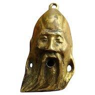 Brass Head Shou Chinese God of Longevity for Hanging