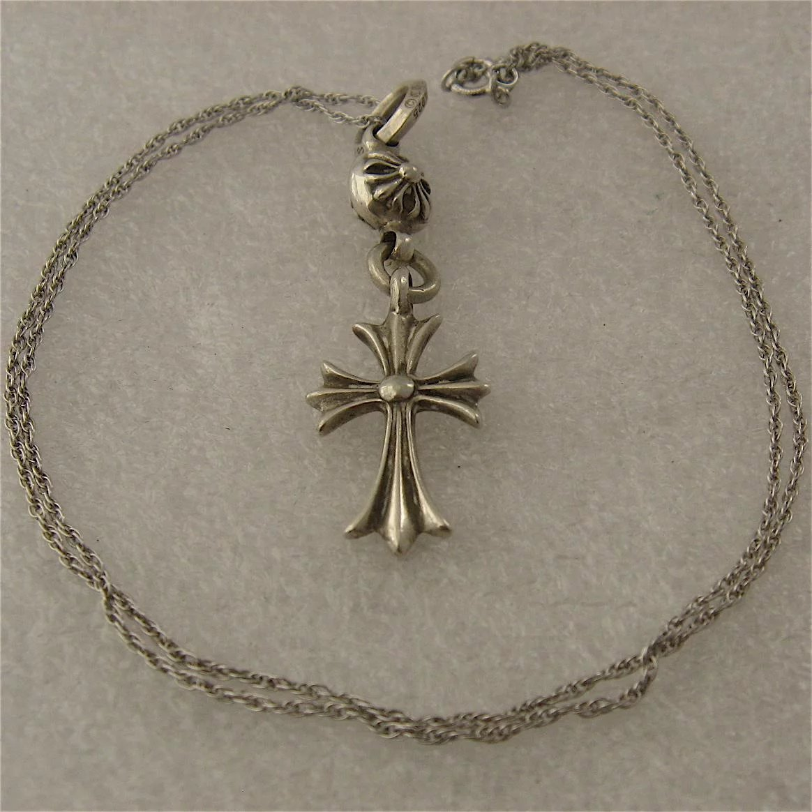 Chrome hearts sterling cross pendant ball necklace gothic inspired click to expand aloadofball Images