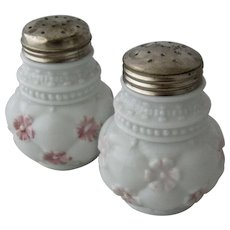 Early 1900s Consolidated Glass Painted Salt Pepper Shakers