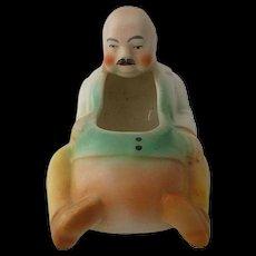 1930s Czechoslovakia Ceramic Figural Man Cigar Holder